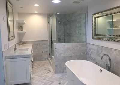 TCI bathroom marble white
