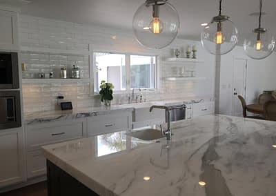 TCI marble white kitchen
